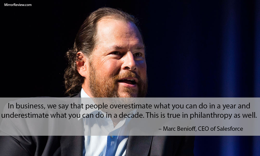 Marc Benioff philanthropy quotes