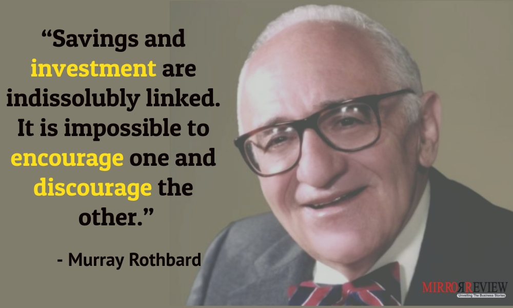 - Murray Rothbard, Political theorist