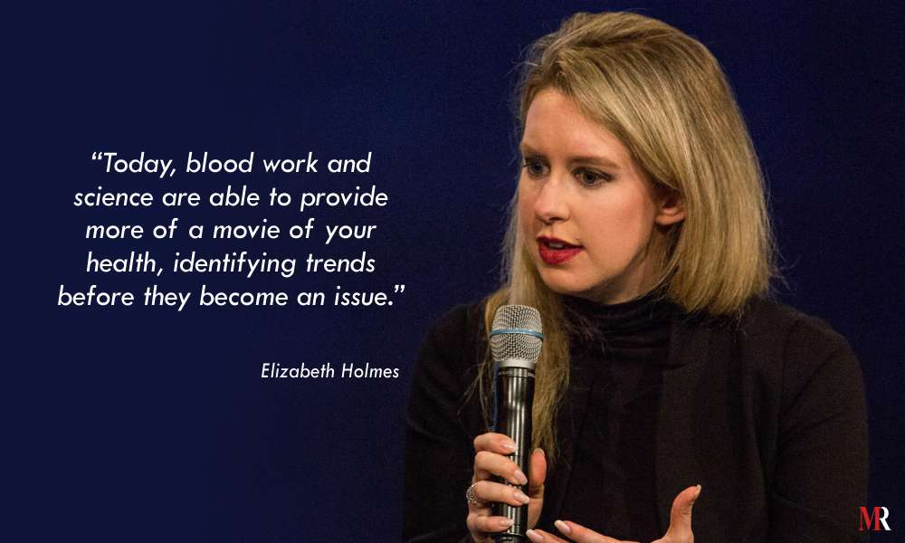 Quotes by Elizabeth Holmes | Mirror Review Quotes