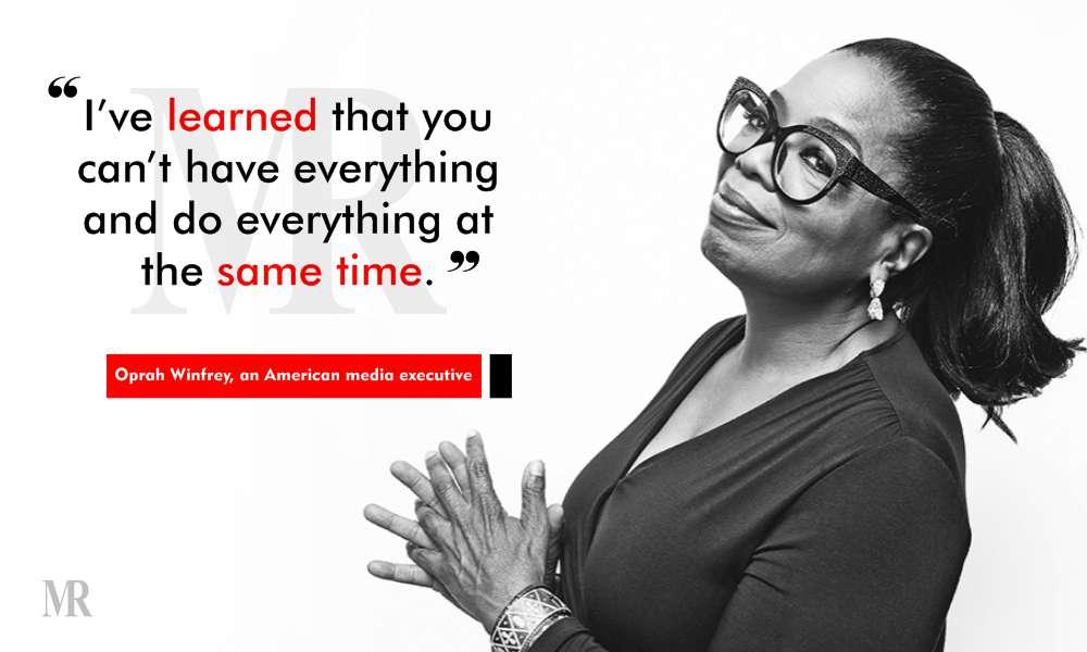 work life balance quotes by Oprah Winfrey