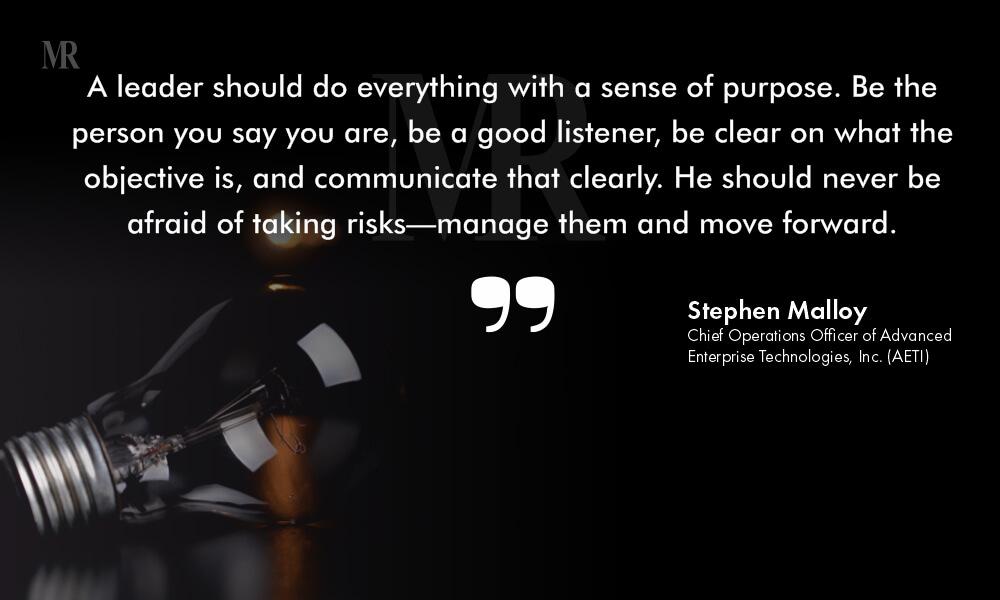 Stephen Malloy Quote