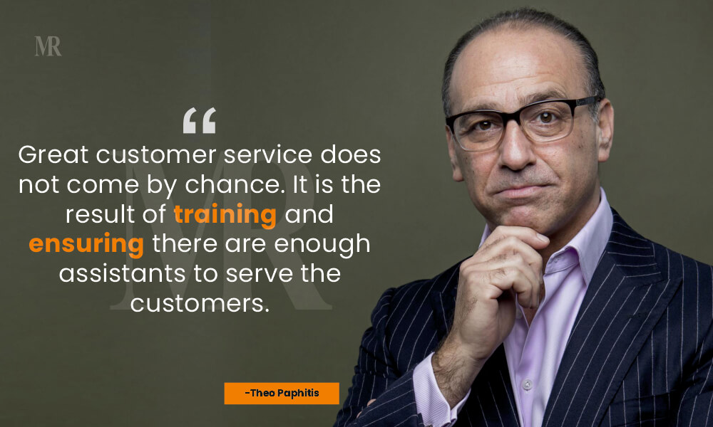 Theo Paphitis Quotes on customer day