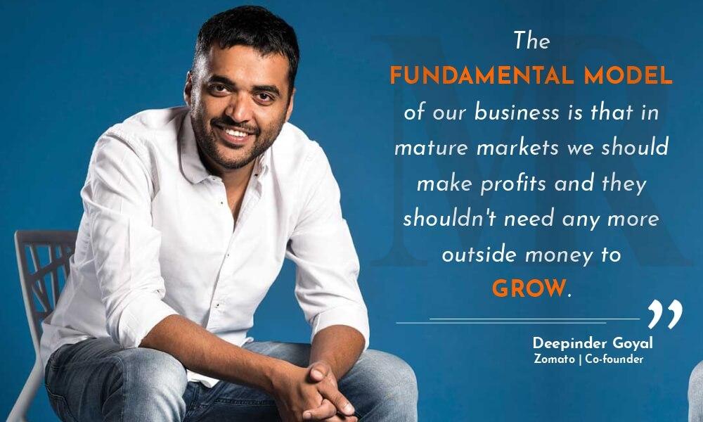 Deepinder Goyal quotes on startups