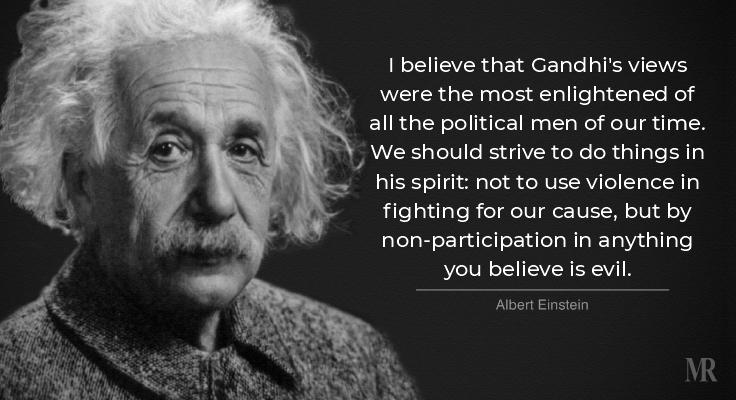 Albert Einstein on Gandhi