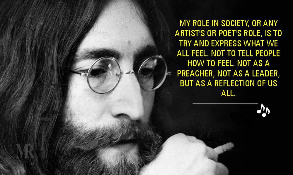 John Lennon quotes on Art